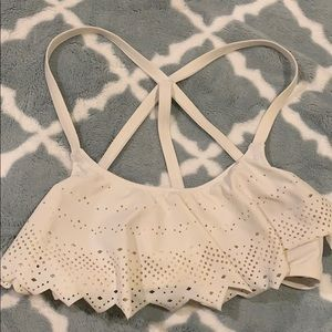 Victoria's Secret PINK Ruffle/Flounce White Bikini